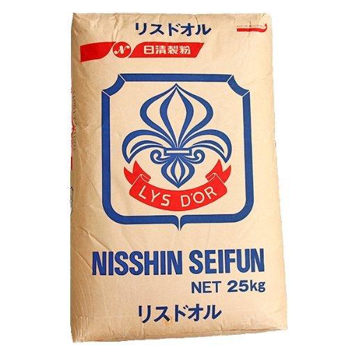 【フランスパン用中力小麦粉】 日清製粉 リスドオル 25kg袋