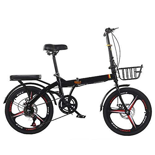 OFAY Bicicleta Plegable Unisex De 20 Pulgadas Shimano 7 Velocidades Revoshift Rueda...