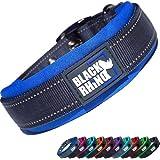 Black Rhino - The Comfort Collar Ultra Soft Neoprene Padded Dog Collar for All Breeds - Heavy Duty Adjustable Reflective Weatherproof (Large, Blue/Grey)
