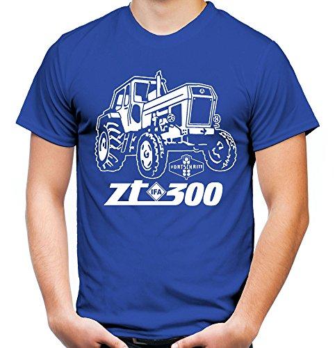 Traktor ZT Männer und Herren T-Shirt | 300 Oldtimer DDR Landwirt Bauer | M1 (L, Blau)