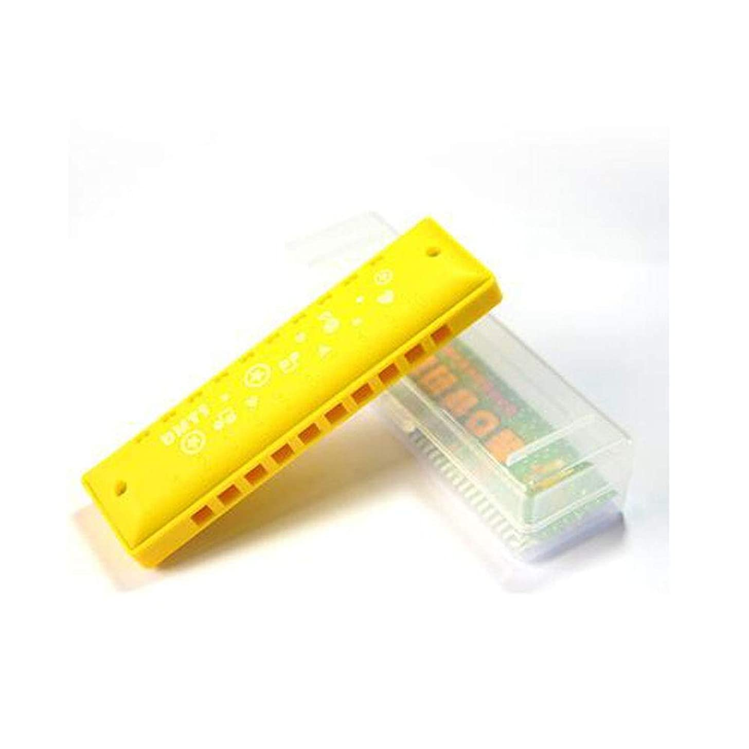 Xiaoningmeng Harmonica, 10-hole harmonica beginners tone piano kindergarten children's toys, girls birthday gifts, age: 1 year old - 3 years old Folk music instrument (Color : Yellow)