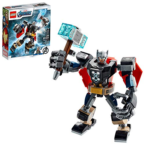 LEGO Marvel Avengers Classic Thor Mech Armor 76169 Cool Thor Hammer Playset; Superhero Building Toy for Kids, New 2020 (139 Pieces)