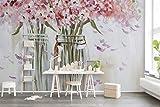 Papel Pintado 3D Hermoso Jarrón De Vidrio De Pintura Al Óleo Flores 3D Dormitorio Decorativos Murales Moderna Diseno 200x140cm