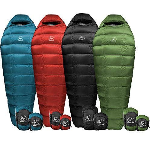 Outdoor Vitals Summit 0 & 15 & 30 Degree F Ultralight Backpacking Mummy Down Sleeping Bag for Lightweight Hiking & Camping…