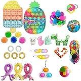 HUWU 41pcs TIK Tok Fidget Toys Pack, Sensory Fidget Toys Pas Cher, Fidget Toy Set Figetgets-Toys Pack, Fidget Pack avec Simples-Dimples Dedans, Cadeaux pour Enfants et Adultes avec autisme (41PCS3)