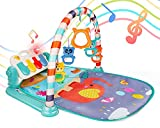 Covtoy Baby Play Mat, Kick and Play Piano Gym Mat for Infants, Tummy Time Mat Activity Center with Mirrorfor Baby Toys 3-6 Months