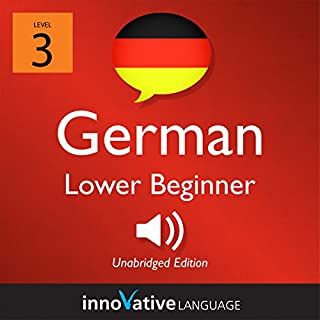Learn German - Level 3: Lower Beginner German     Volume 1: Lessons 1-25              By:                                                                                                                                 Innovative Language Learning LLC                               Narrated by:                                                                                                                                 GermanPod101.com                      Length: 3 hrs and 35 mins     3 ratings     Overall 3.3