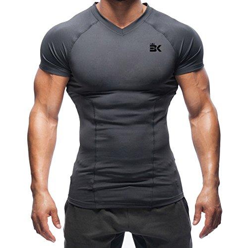 Broki - Fitness-Shirts für Herren in Grau, Größe L