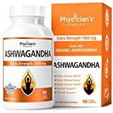 Ashwagandha 1950mg Organic Ashwagandha Root Powder Extract of Black Pepper Anxiety Relief, Thyroid Support, Cortisol &...