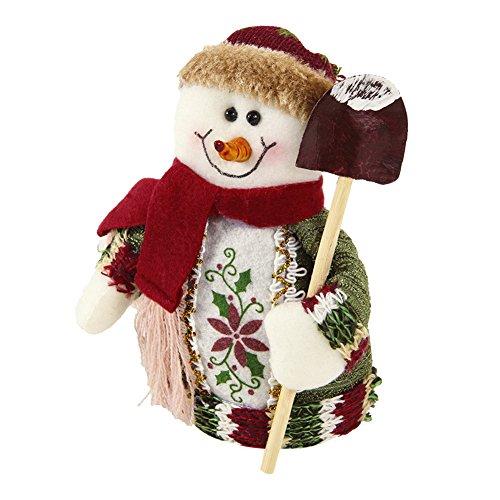 CHIC-CHIC Poupée Noël Ornement Décoratif Décoration Bonhomme Jouet Décor Cadeau (Bonhomme de Neige)