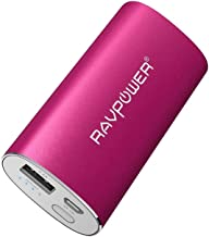 Portable Charger RAVPower 6700mAh (2.4A Output & 2A Input) External Battery Pack Power Bank Power Pack Backup Battery Charger for iPhone 11, iPhone Xs, iPhone X, 8 Plus, Galaxy S9 and More - Pink