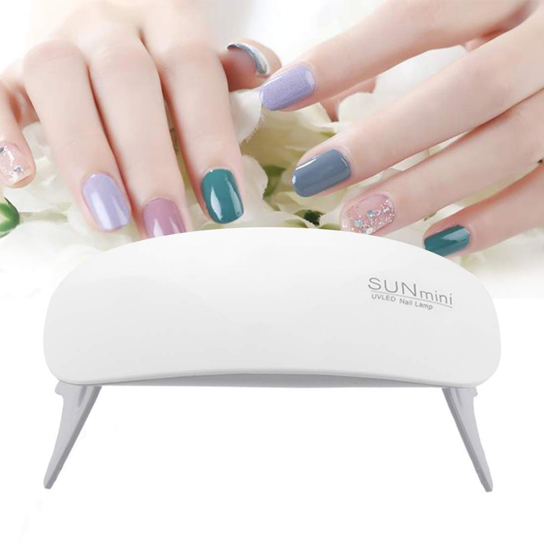 はがき阻害するバスルームBFACCIA ミニサイズ UV と LEDダブルライト ネイルランプ 乾燥用速乾性折りたたみ式 タイマー設定可能 (ホワイト)