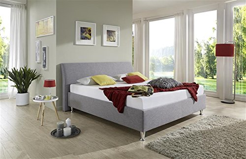 Breckle Polsterbett, Bett 180 x 200 cm Tyree Comfort 38 cm Höhe Stärke 3 cm Bündig Leder Optik schlamm comfort