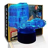 KangYD Cabezal de camión de luz nocturna 3D, lámpara de ilusión óptica LED, lámpara para niños, G- Control de Telefonía Móvil, Lámpara infantil, Lámpara de decoración de oficina