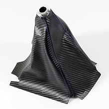Blue Stitching/PVC Carbon Fiber Look Black Manual/Auto Gear Shift Boot Cover JDM