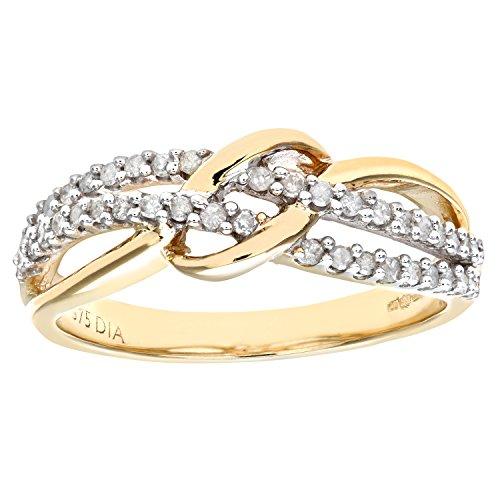 Naava Anillo para Mujer de Oro con Diamante