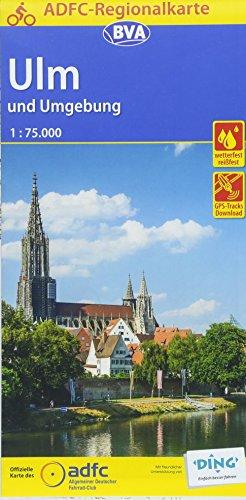 ADFC-Regionalkarte Ulm und Umgebung mit Tagestouren-Vorschlägen, 1:75.000, reiß- und wetterfest, GPS-Tracks Download (ADFC-Regionalkarte 1:75000)
