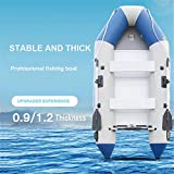 LaKoos Kayak Inflable de 2.65 m, Piso de Madera Independiente, 3 cámaras de Aire Independientes, Equipado con lujosas paletas de aleación de Aluminio, Bomba de Aire, Bolsa de Almacenamiento