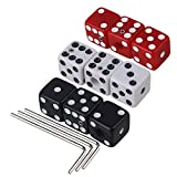 BQLZR Multicolor Plastic Dice Guitar Tone Volume Control Knobs with Wrench for Electric Guitar Pack of 9