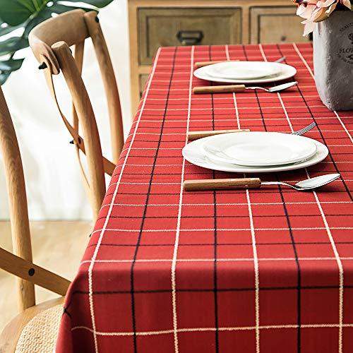 TSUBASI テーブルクロス 撥水 ギンガムチェック タッセル 正方形 赤 クリスマス 長方形 ポリエステル 油はね防止 マルチサイズ