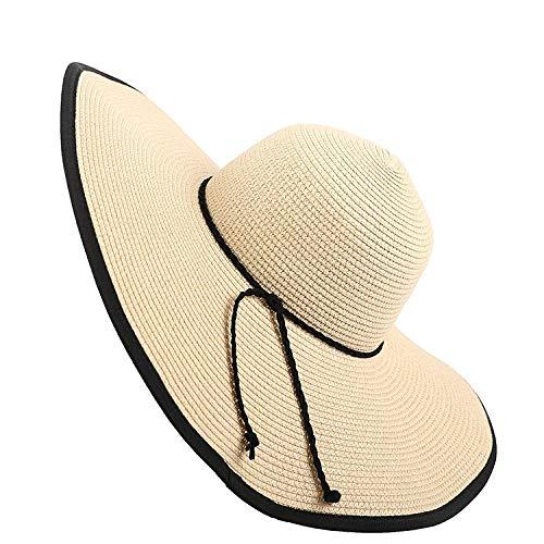 Elegante Sombrero De Paja con Forma De CúPula, Sombrero De Sol Flexible...