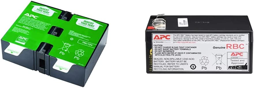 APC UPS Battery Replacement, APCRBC123 & UPS Battery Replacement, RBC35, for Back-UPS Models BE350G, BE350C