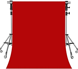 MEETS 5x7ft Non-woven Fabric Backdrop Red Fashion Photography Background Studio Props Photo Booth YouTube Backdrop HONGWMT001