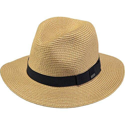 Barts Aveloz Hat Chapeau Fedora, Multicolore (Beige Con cordoncino Nero), L (Taille Fabricant: L) Mixte