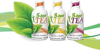 5 Hour Energy Tea Assortment, Natural Green Tea Energy Shot Sampler. Peach Tea, Lemonade Tea, and Raspberry Tea. 1.93 Ounces, 4 of Each Flavor, Total Pack of 12