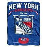 The Northwest Company NHL New York Rangers 'Inspired' Raschel Throw Blanket, 60' x 80' , Blue