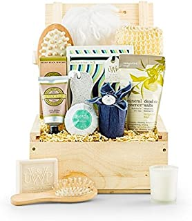 GiftTree Relaxing Retreat Spa Gift | Pampering Gift Basket of Bath and Body Essentials | Perfect Spa Gift Set for Him or Her Any Occasion