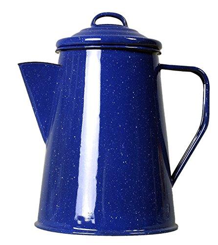 Relags Emaille Kaffeekanne Kanne, Blau, 1 L