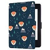 Huasiru Pintura Caso Funda para Kindle Paperwhite - no es Compatible con la versión del 2018 (10.ª generación), Zorro