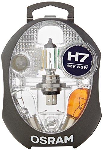 OSRAM ORIGINAL MINIBOX, set lampade di ricambio, proiettori alogeni per auto H7, 12V, kit completo di lampade di ricambio OSRAM (1 pezzo).