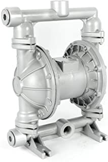 Air-Operated Double Diaphragm Pump 1 inch Inlet & Outlet Aluminum 24 GPM Max 115PSI for Chemical Industrial Use