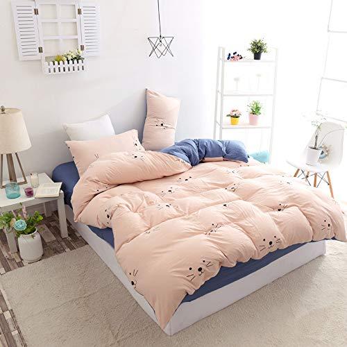 Huyiming Bed Linings Bed, 4-delig, voor studenten, slaapzaal, eenpersoonsbed, stof, dekbed