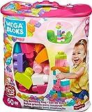 Mega Bloks Juego de construcción de 60 piezas, bolsa ecológica rosa,...