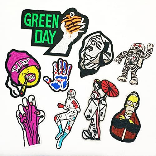Patch Sticker,Parche termoadhesivo,Aplique de bordado adecuado para sombreros, chaquetas, abrigos, camisetas 9 piezas de personajes de anime