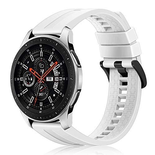 Fintie Correa Compatible con Samsung Galaxy Watch 46mm / Gear S3 Frontire/Gear S3 Classic - 22mm Pulsera de Repuesto de Silicona Suave Banda Deportiva,