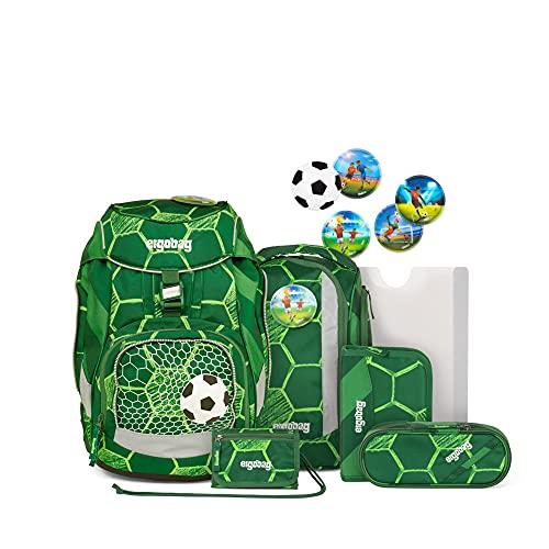 ergobag pack Set - ergonomischer Schulrucksack, Set 6-teilig, Grün (Grün)