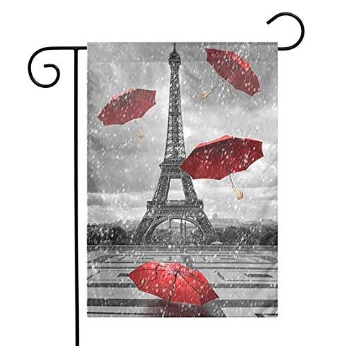 Sombrilla roja de la torre banderas de jardín para interiores y exteriores, decoración de bienvenida decorativa para la fiesta de la familia