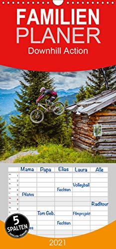 Downhill Action - Familienplaner hoch (Wandkalender 2021 , 21 cm x 45 cm, hoch): Mit dem Bike in Action und am Limit, das ist Downhill (Monatskalender, 14 Seiten ) (CALVENDO Sport)