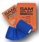 SAM® SPLINT COMBO PACK (36' ORANGE/BLUE FLAT SPLINT & BLUE COHESIVE WRAP)