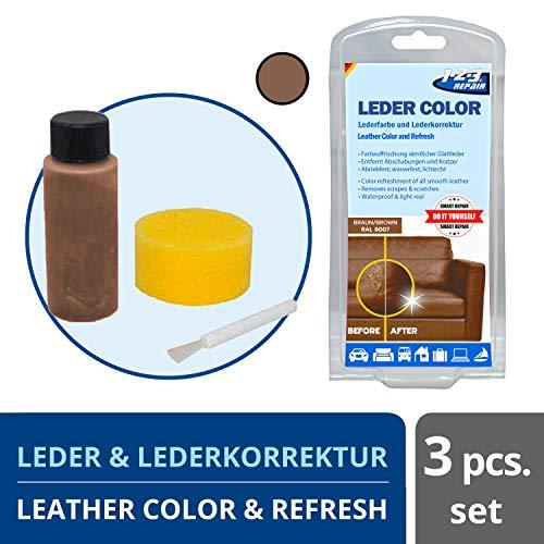 1-2-3 REPAIR 123Repair Lederfarbe - Ledercouch wie Neu - Lederfärbemittel - Braun 57ml