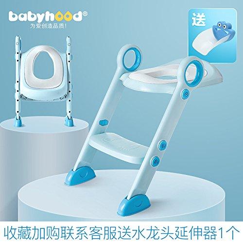 Bijjaladeva Antiek Badkamer wastafel Vaartuig Kraan Mixer Tap Eeuw schat toilet ring ladder te zitten voor baby wc-bril kunt u opvouwen toilet Ladder Frame hemel blauw