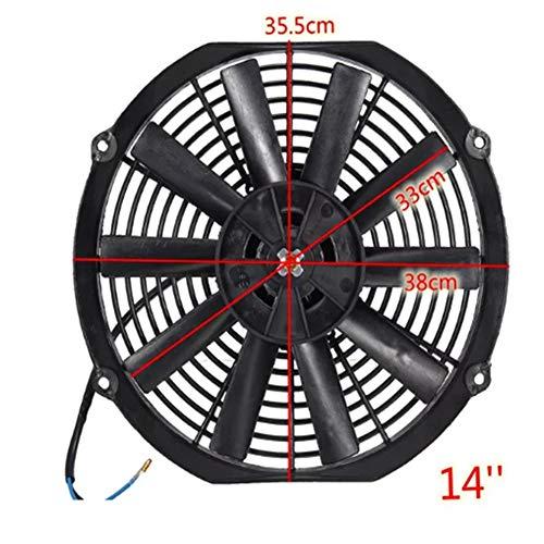 Preisvergleich Produktbild JenNiFer Universal 12V 80V Pull / Push Straight Black Blade Electric Cooling Radiator Fan - 12