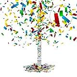 Relaxdays Party-Popper 80 cm, 6-8m Effekthöhe, Konfetti-Shooter, Hochzeit Konfetti-Kanone,...