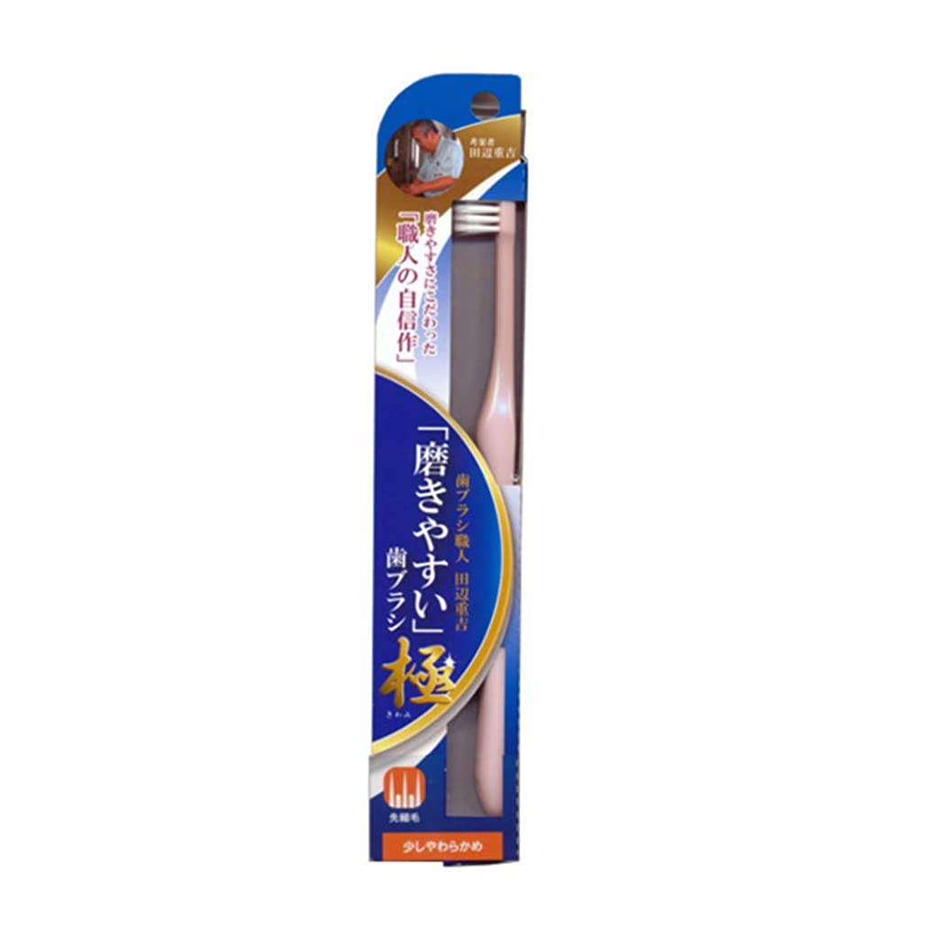 走る電気的傾いた磨きやすい歯ブラシ極 (少し柔らかめ) LT-43 先細毛(色選択不可)