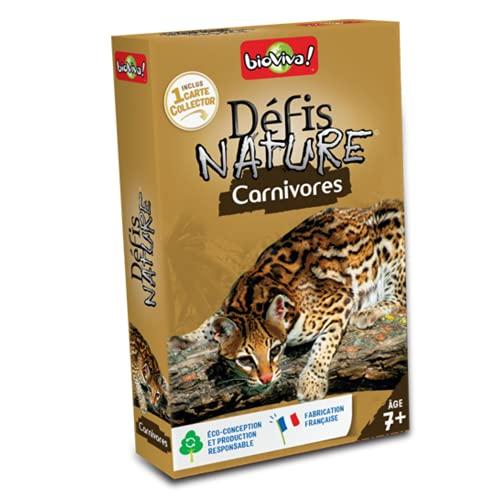 BIOVIVA - Défis Nature - Carnivores - Jeu de société ludique dès 7 ans - 280020