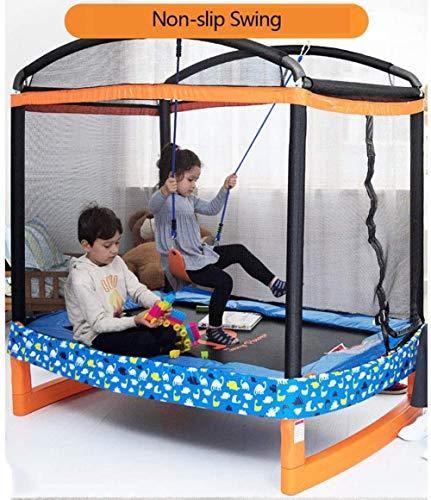 YAYY Trampolines Kids Trampoline met Behuizing Net Jumping Mat En Lente Cover Padding Trampoline Jump Indoor Outdoor Trampoline voor Family School Entertainmen met Swing 186X127x183cm(Upgrade)